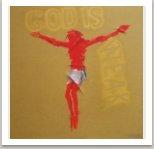 God is weak - No name, 2007, akryl, sprej, nůž na plátně,190x190cm