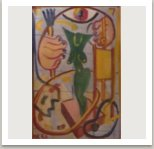 Ateliér, 1957, olej na lepence, 59x41 cm