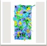 Sny trpaslíka, obraz na objektu, 1989, akryl na dřevotřísce 158x95x7 cm
