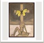 Maří Magdalena I., 2001, akryl na plátně, 200x145 cm