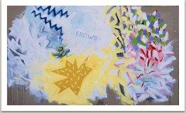 Dav se mýlí vždycky, 1987, akryl na plátně, 175x300 cm