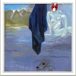 Snídaně u jezera, 1999, akryl, umělá hmota, na plátně, 200x2000