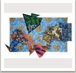 Akvárium, 1987, disperse, tempera, papír, textil, 150x220 cm