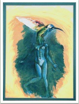 Maří Magdalena III., 2001, akryl na plátně, 200x145 cm