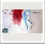 Z cyklu Zmatené obrazy,Řada šedých čísel,1993 akryl,uhel,pastelky,kov na plátně