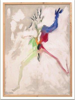Tvor, 2001, akryl na plátně, 200x145 cm