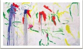 Venčení punkového psa, 1988, akryl na plátně, 175x300 cm