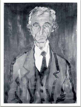 Portrét starého muže ze Skutče, 1957, olej na plátně, cca 100x70 cm