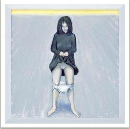 Možná, že je smutná, možná jen čeká, 2000, akryl na plátně, 190x190 cm