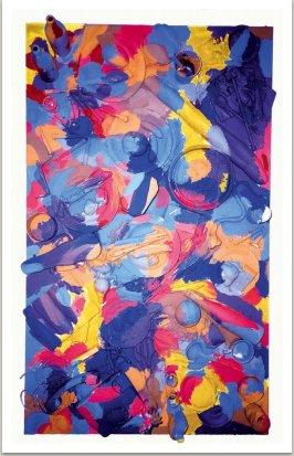 Obraz na objektu (ze série Neo-Spoerri),1989, různé materiály, akryl, 165x82 cm