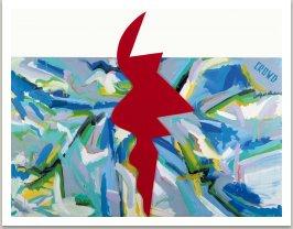 Dav 2, 1988-1989, akryl na plátně a dřevotřísce, 200x300 cm