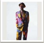 Pánský oblek z kolekce Malovaných oděvů, 1986