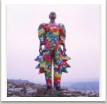 Jarní oblek pro obě pohlaví, z kolekce malovaných oděvů, 1983-88