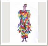 Jarní oblek pro obě pohlaví z kolekce malovaných oděvů, 1983-1988