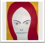 Z cyklu Ženské portréty, 1964, olej a email na plátně, 230x185 cm