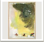 U tří znaků, 2001, akryl a umělá hmota na plátně, 200x145 cm