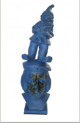 Che Guevara, 1990, sádra, plastik, akryl, 80x160 cm
