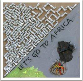 Let's go to Africa, 2008, akryl, uhel, umělá hmota na dřevotřísce, 100x100 cm
