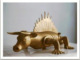 Nový ráj Cowtor,1990, laminát, 50x105x65 cm