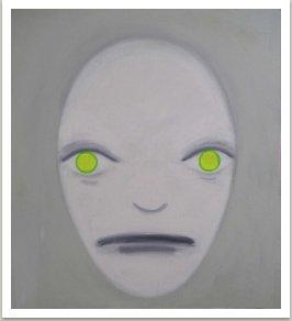 Fascinující milenka, 2004, akryl na plátně, 130x130 cm