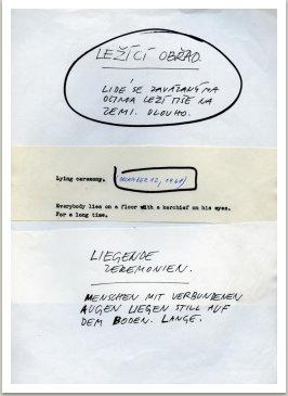 Ležící obřad, 1967-1968