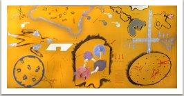 Město v poušti, 1969-70, kombinovaná technika na textilu, 200x450 cm