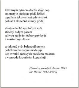 Bariéry strmých dechů, 1985