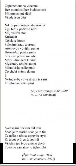 Žiju život vstoje, 2004-2005