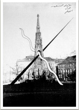 Návrh na možnou úpravu podstavce pro sochu Císaře Františka I., 1988