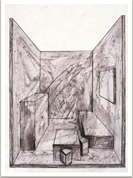 Kresba k realizaci prostředí na Bienale,1989-90, Sydney Austrálie