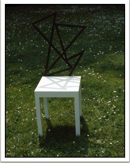 Židle Šifra, 1985, dřevo, barva