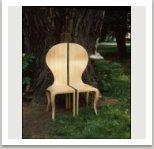 Židle ze soupravy Softhard, 1974, překližka, barva, 140x40x42 cm