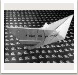 Loď pro mé sny, 1973, textil, kožešina, barva, 100x75 cm