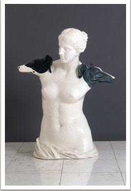 Fenuše, 1988, glazovaná keramika, 100x80x43 cm