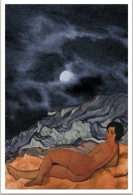 Krajina s měsícem, ze série Počítačových obrazů, 1997