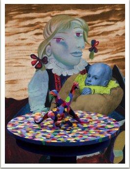 Madona, ze série Počítačových obrazů, 1996-1997, 125x100 cm