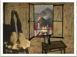 Zátiší se sovou, ze série Počítačových obrazů, 1996-1997, 100x125 cm