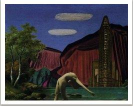 Krajina s mrakodrapem, ze série Počítačových obrazů, 1997