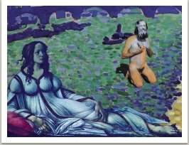 Modrá dáma a Geoffrey Hendricks, ze série Počítačových obrazů, 1996-1997
