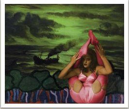Romantická plavba, 1996-1997 ze série Počítačových obrazů, 100x125 cm