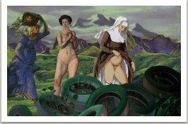 Tři grácie, ze série Počítačových obrazů, 1996-1997, 100x145 cm