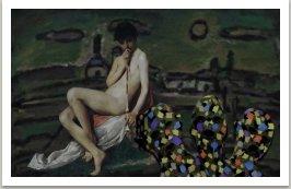 Pištec za ranního svítání, ze série Počítačových obrazů,  1996-1997, 100x145 cm