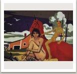 Zpět do ráje, ze série Počítačových obrazů, 1996-1997, 100x125 cm