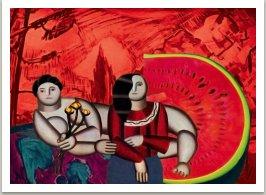 Horké letní odpoledne, ze série Počítačových obrazů, 1997, 100x130 cm