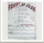 Atentát na kulturu, 1967, Písně kapely Aktual