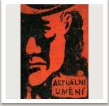 Obálka 2. čísla samizdatového časopisu Aktuální umění, od r.1964