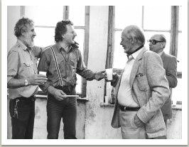 Západní Berlín 1979, zleva Rudolf Valenta+MK+Jan Kotík+Jiří Kolář