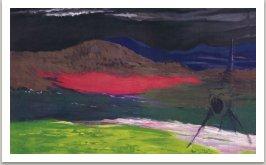 Z cyklu Zmatené obrazy, Guliver, 1992, akryl na plátně, 175x300 cm