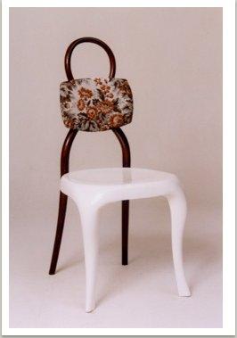 """Židle """"New Thonet"""", 90. léta, dřevo, polstrování, umělá hmota"""