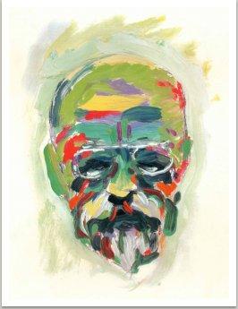 Masaryk, kresba pro titulní stranu časopisu Reflex na žádost redakce